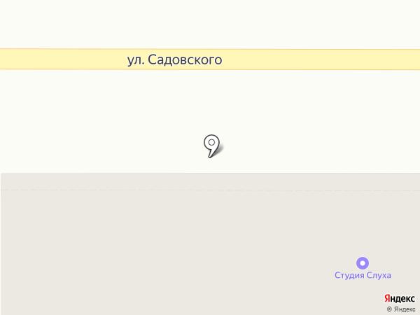 Бэма на карте Новомосковска