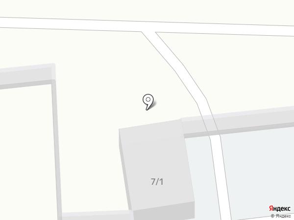 Автостоянка на ул. Кукунина на карте Новомосковска