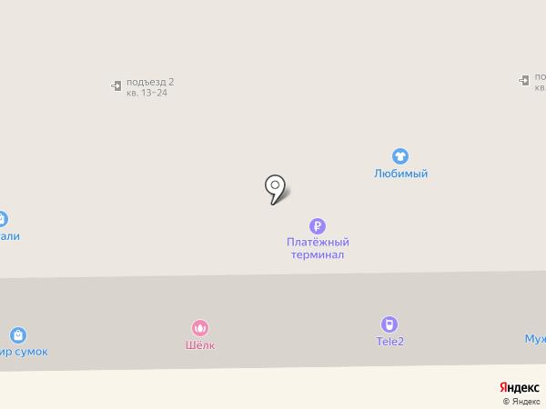 Шелк на карте Донского
