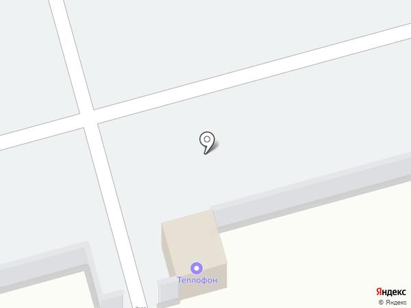 Автостоянка на проспекте Победы на карте Новомосковска