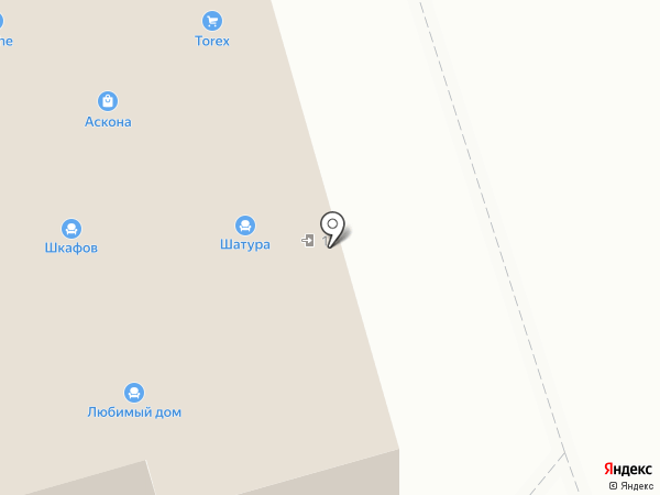 Аскона на карте Новомосковска