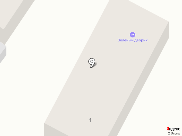 Зелёный дворик на карте Геленджика
