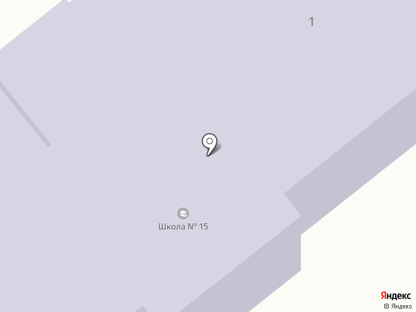 Основная общеобразовательная школа №15 на карте Донского