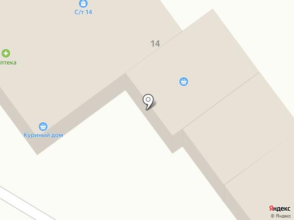 Куриный дом на карте Давыдово