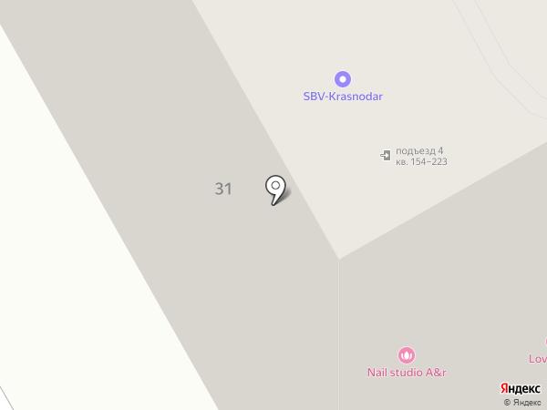 Счастливый дом на карте Краснодара