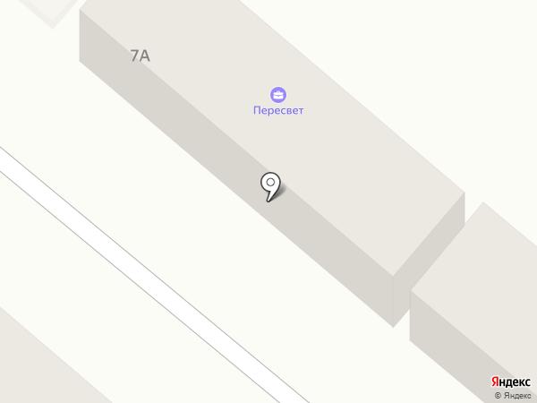 Пересвет на карте Новой Адыгеи