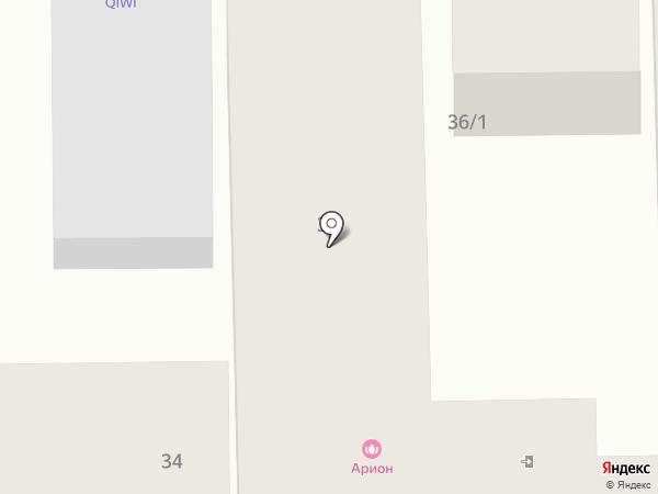 АРИОН на карте Краснодара