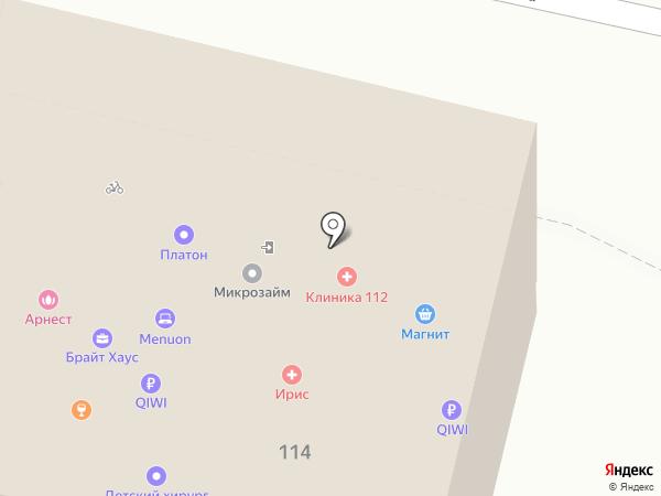 Клиника 112 на карте Краснодара