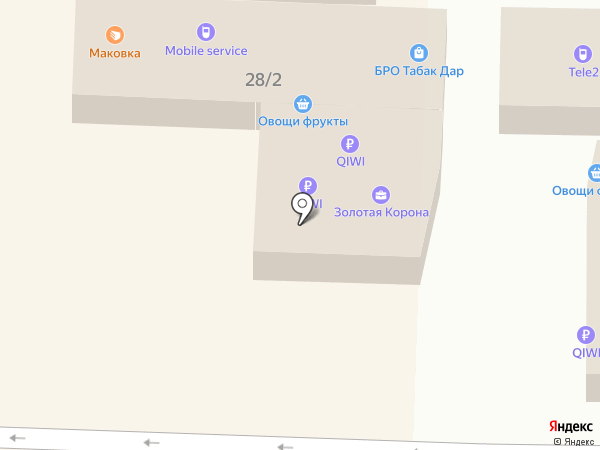 Tele2 на карте Краснодара