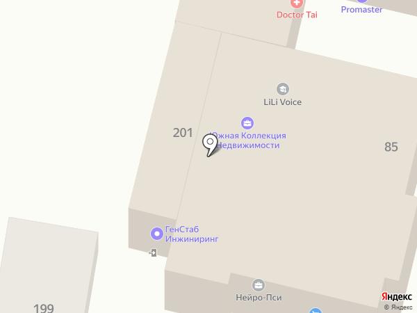 Буран на карте Краснодара