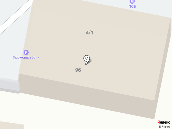 Банкомат, Промсвязьбанк, ПАО на карте Краснодара