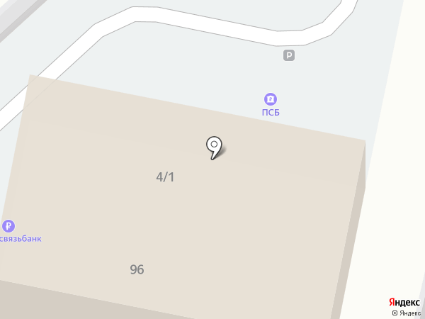 Промсвязьбанк, ПАО на карте Краснодара