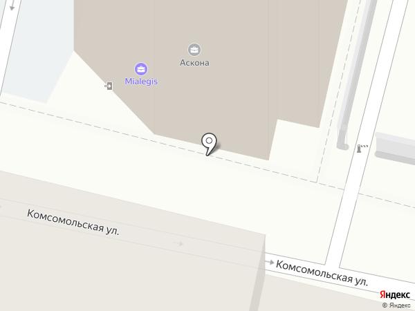 Пантерра на карте Краснодара