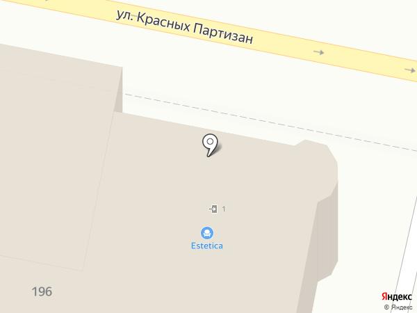 Веер на карте Краснодара