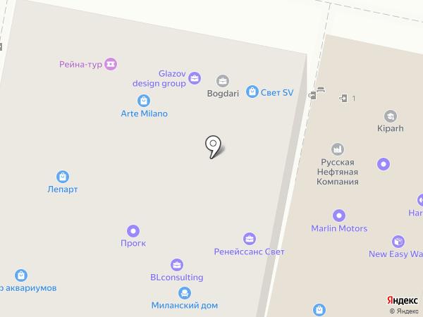 Пантеон на карте Краснодара