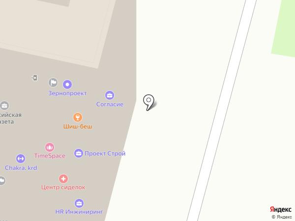 Фарадей на карте Краснодара