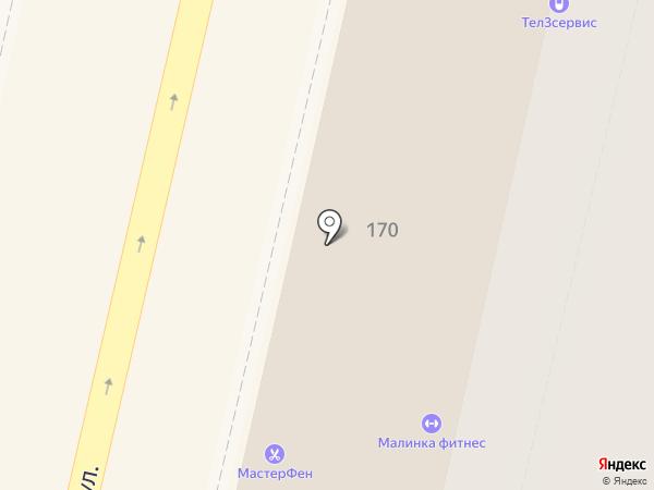 Московская ярмарка на карте Краснодара