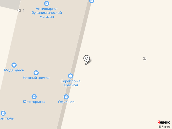Рис на карте Краснодара