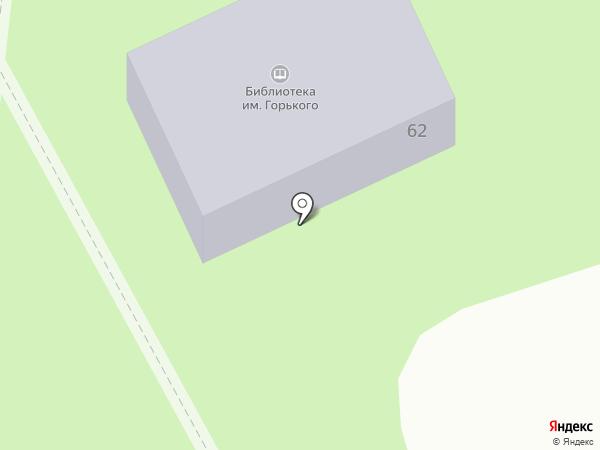 Библиотека им. М.Горького на карте Новотитаровской
