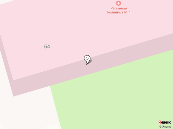 Новотитаровская больница №1 на карте Новотитаровской
