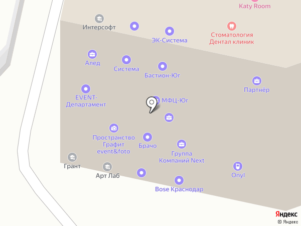Розовая Пантера на карте Краснодара