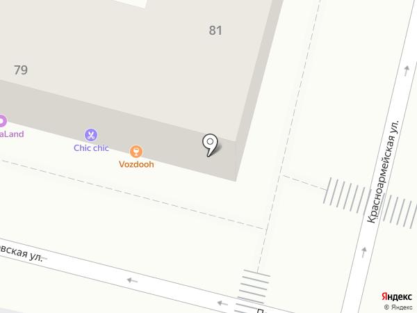 Тэнси на карте Краснодара
