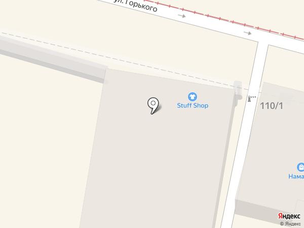Барышня на карте Краснодара