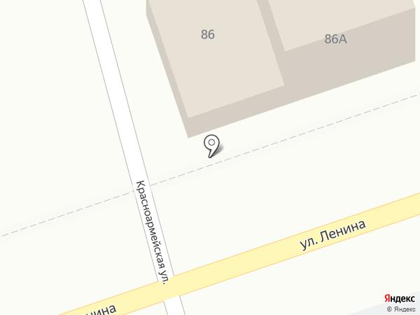 Продовольственный магазин на карте Новотитаровской