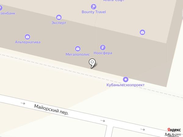 Адвокат Третьяков В.М. на карте Краснодара