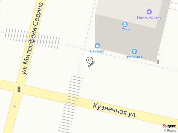 Рубеж безопасности на карте Краснодара