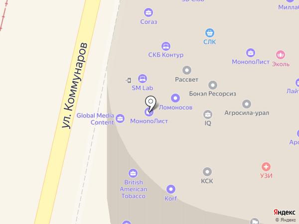 Веста на карте Краснодара