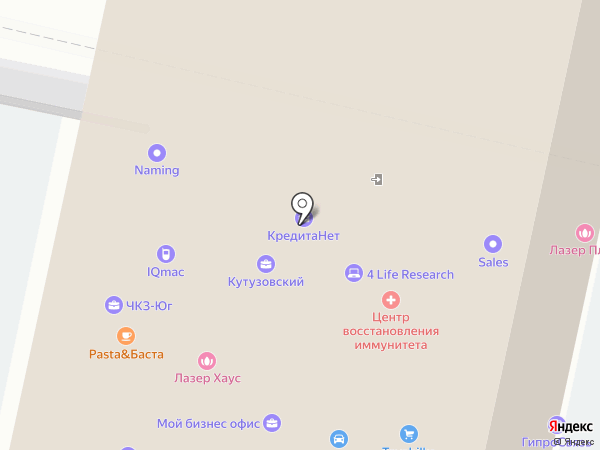 Тимфорт-Краснодар на карте Краснодара