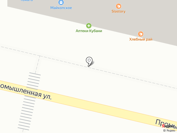 Майкопский пивоваренный завод на карте Краснодара