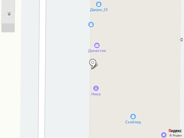 Двери на Московской на карте Краснодара