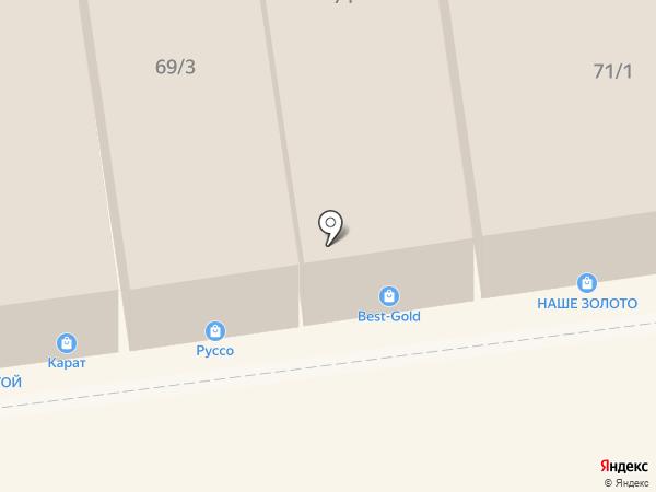 Кедровый Бор на карте Краснодара