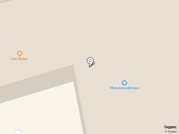 Открытка на карте Краснодара
