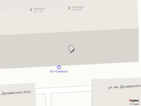 Юг-Комфорт на карте Краснодара