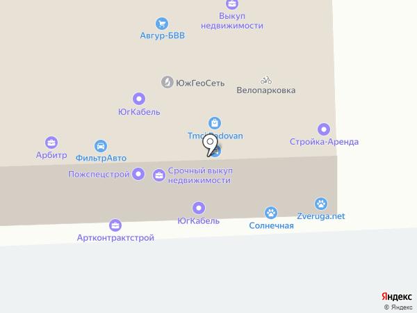 Бизнес Риэлт на карте Краснодара