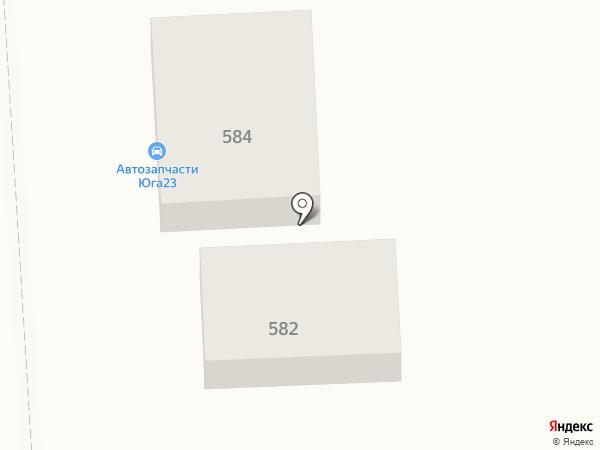 Юга23 на карте Краснодара
