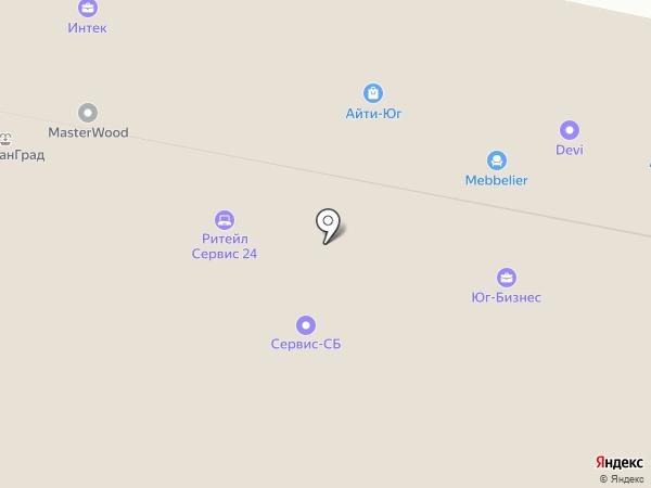 Центрком-Сервис на карте Краснодара