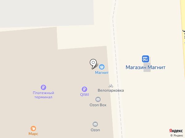 Атлет на карте Краснодара