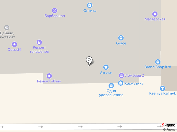 Буденный Ю.В. на карте Краснодара