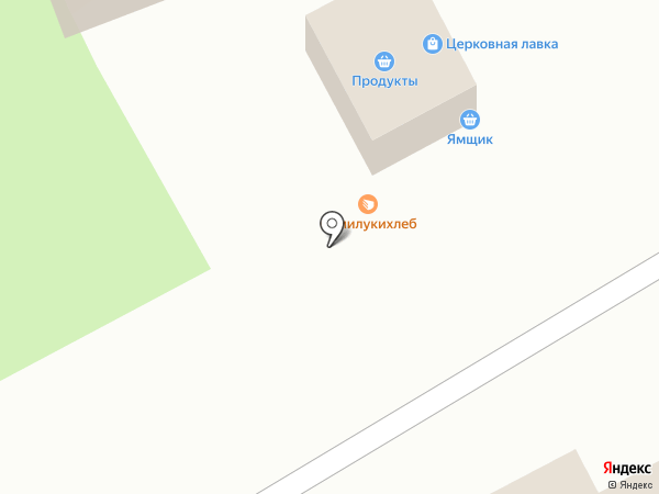 Киоск по продаже хлебобулочных изделий на карте Семилуков