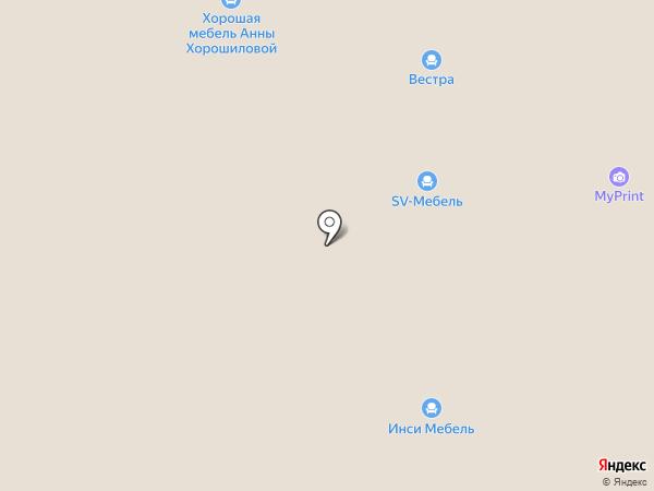 Мебельный салон Анны Хорошиловой на карте Краснодара