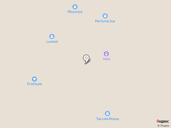 Кадриль на карте Краснодара