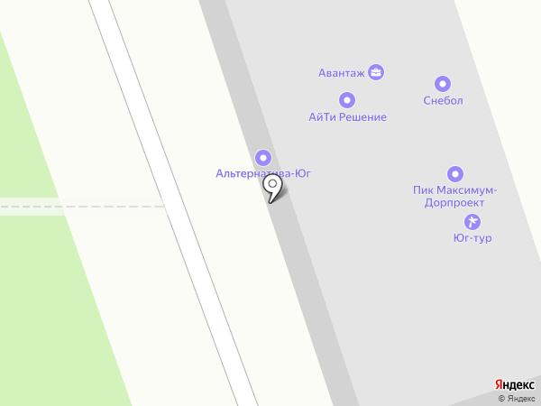 Снебол на карте Краснодара