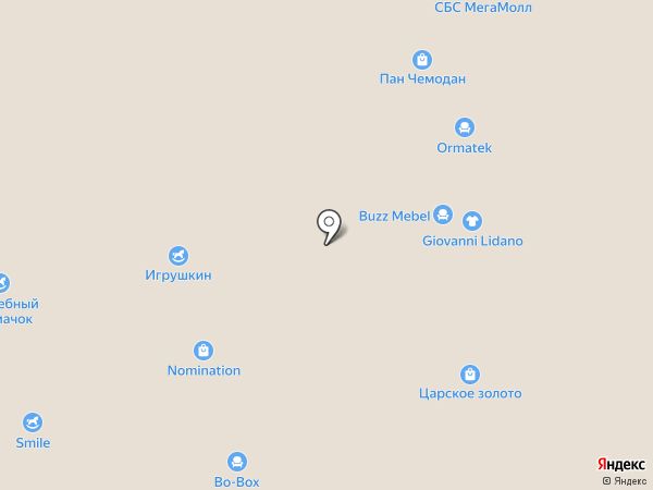 Aero на карте Краснодара