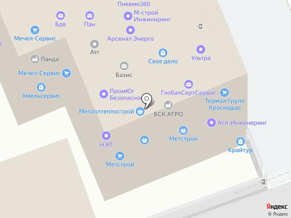 СибСтрой на карте Краснодара