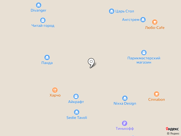 Divanger на карте Краснодара