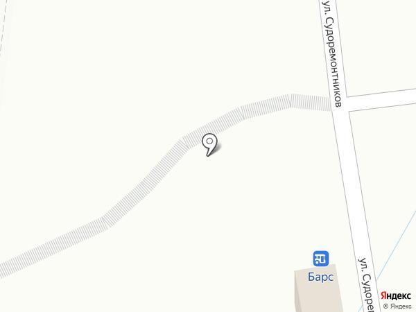 Барс на карте Туапсе